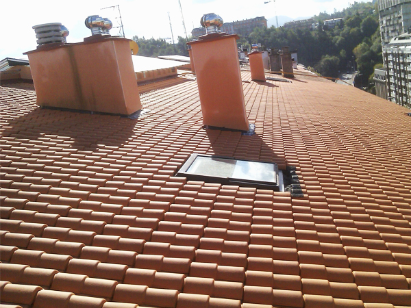 Trabajo de renovación de tejado