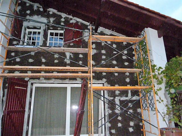 Trabajo de rehabilitación de fachada