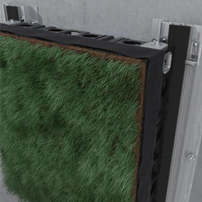 Fachada de hierba